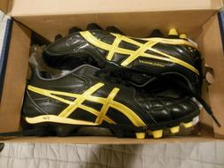 Asics Lethal Stats New Soccer Cleats Black/Yellow Size 11.