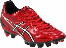 ASICS Men's Lethal Stats SK Soccer Shoe,Red/Silver,9.5 M US
