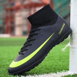 Men Boys Soccer Cleats Shoes Fashion Indoor Football Shoes S