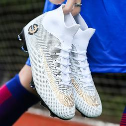Men Boys Soccer Shoes High Top Football Shoes Sneakers Sport