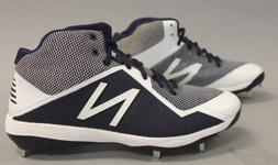 New Balance Men's 4040 V4 Mid Metal Baseball Cleats GG8 Navy
