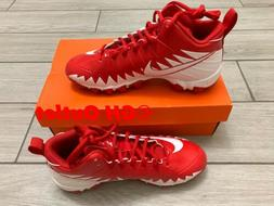 Nike Men's Alpha Menace Shark FOOTBALL Cleats Size 7  Red/Wh