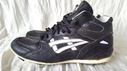 Men's Asics Gel Baseball softball metal cleats shoes black,
