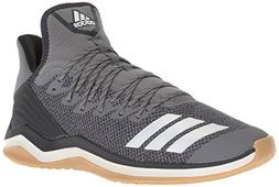 adidas Men's Icon 4 Baseball Shoe, Grey/Cloud White/Carbon,