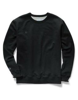 Champion Men's Powerblend Sweats Pullover T-Shirt Crew Black