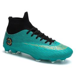 Men's Soccer Boots Ankle Cleats Football Trainers Sports Sho