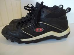 MEN'S USED  EASTON FOOTBALL CLEATS SIZE 10