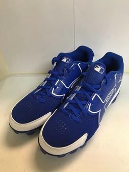 MENS UNDER ARMOUR BASEBALL CLEATS, BLUE AND WHITE, SIZES 6.5