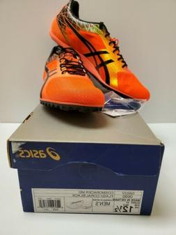 Asics Mens Cosmoracer MD Size 12.5 Flash Coral/ Black with C