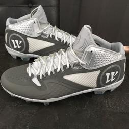 Mens Warrior Lacrosse Cleats Size 13 Gray White Gray Adonis