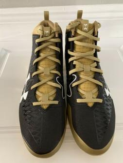 Mens Under Armour Nitro Select Black/gold Football Cleats Si