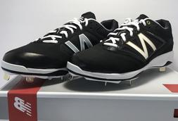 New Balance Mens Size 11.5 WIDE Low Metal Baseball Cleats Bl
