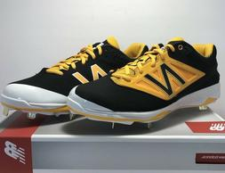 New Balance Mens Size 11 WIDE Low Metal Baseball Cleats Blac