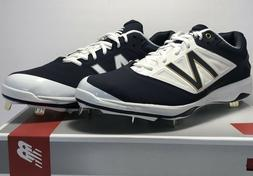 New Balance Mens Size 12 WIDE Low Metal Baseball Cleats Navy
