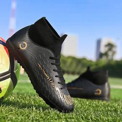 Mens Indoor Soccer Cleats Shoes TF Hign Top Soccer Football