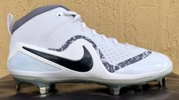 Mens Nike Zoom Trout 4 Baseball Cleats Size 8/10/13 White/Bl