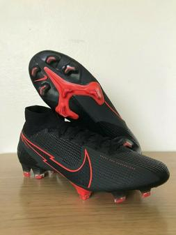 Nike Mercurial Superfly 7 Elite FG Black Red Soccer Cleats M