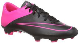 NIKE Men's Mercurial Victory V FG Soccer Cleat  Black, Hyper