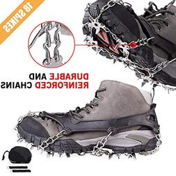 Cycorld Crampons Traction Ice Cleats with 18 Teeth Stainless