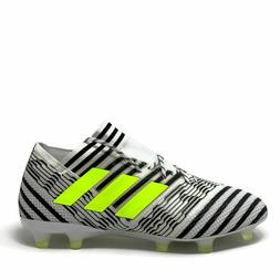 ADIDAS NEMEZIZ 17.1 FG SOCCER CLEATS WHITE/YELLOW/BLACK BB60