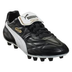 New $120 PUMA King Top di FG Leather Soccer Cleats Blk/Wht/G