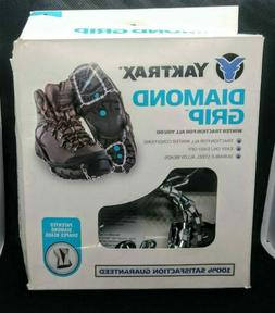 New**** YAKTRAX Diamond Grip traction cleats SIZE SMALL blac