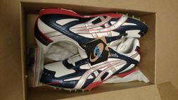 NEW IN BOX Mens CLEATS Shoes Size 15  ASICS Hyper MD Red Blu