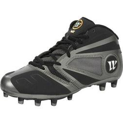 New Junior Warrior Lacrosse Burn 7.0 Cleats Youth Black / Gr