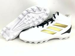 NEW! Adidas Men's Freak Mid MD Football Cleats Lace Up Wht/B