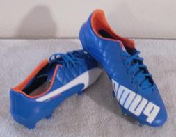 NEW Puma Mens evoSPEED SL Leather Soccer Cleats 7.5 Electric