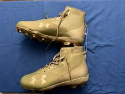 NEW Mens UNDER ARMOUR Hammer Gold FOOTBALL CLEATS SIZE 13 12