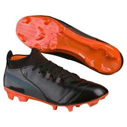 New Puma ONE Lux FG Soccer Cleats Men's Size 7-13 Black/Oran