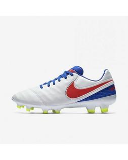 NEW Nike Tiempo Legacy II FG Soccer Cleats White/Blue 819255