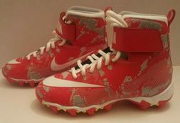 Nike New Youth Football/Lacrosse Cleats Size 1Y  Red White