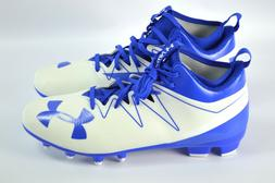 Under Armour Nitro Mid Football Cleats Size 12 Blue White Sh