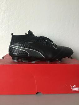PUMA ONE 17.1 FG LEATHER SOCCER CLEATS  SIZE 10.5