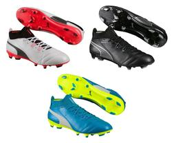 Puma ONE 17.1 FG Leather Soccer Cleats Men's Size 7-13 Black