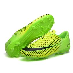 Outdoor Men Boys Soccer Shoes Football Boots High Ankle Kids