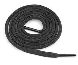 """Oval Athletic Shoelaces 1/4"""" Thick Solid Colors for All Shoe"""