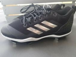 Adidas Poweralley 5 Core Baseball Cleats Metal Men's Black S