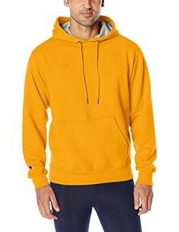 Champion Men's Powerblend Sweats Pullover Hoodie Team Gold L
