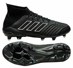 ADIDAS PREDATOR 18.1 FIRM GROUND SOCCER CLEATS Shoes Black/W