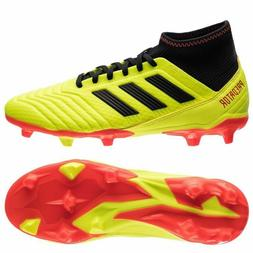 ADIDAS PREDATOR 18.3 FG SOCCER CLEATS YELLOW/RED/BLACK SIZE