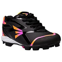 Easton Girl's Prowess Missy Rubber Softball Cleats - Black/P