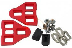 1 Pair Red LOOK Delta Compatible Pedal Cleats with Screws Wa