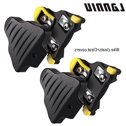LANNIU Road Bike Cleats+Cleat Covers Set,Compatible with Shi