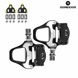 RockBros Road Bike Cycling Pedals Self-lock with SPD-SL Cleats CR-MO Steel Axle