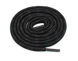 Round Shoelaces With Kevlar Reinforcement Weave - Black/Blac