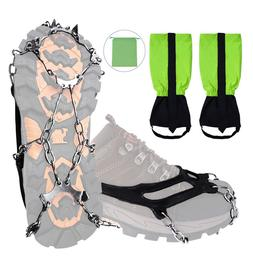 Crampons Traction Cleats Ice Snow Climbing Hiking Grips non-