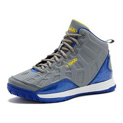 AND1 Kids Show Out Basketball Shoe, 7 M US Big Kid Gray/Blue